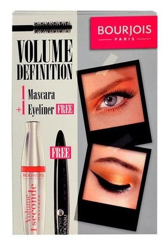 Bourjois sada mascara 1 Second 12 ml & Eyeliner Pinceau 2,5 ml