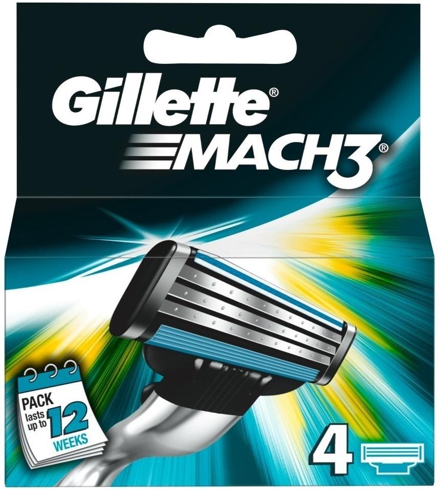 Gillette Mach3 náhradní břity 4ks