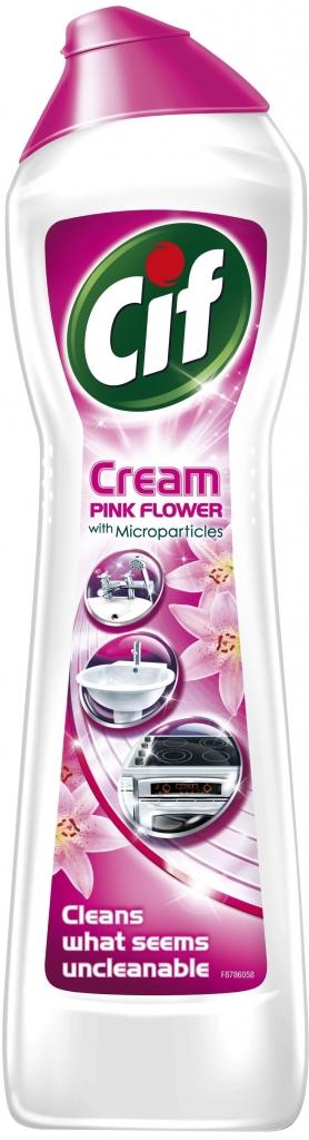 Cif Cream Pink Flower tekutý písek 500 ml