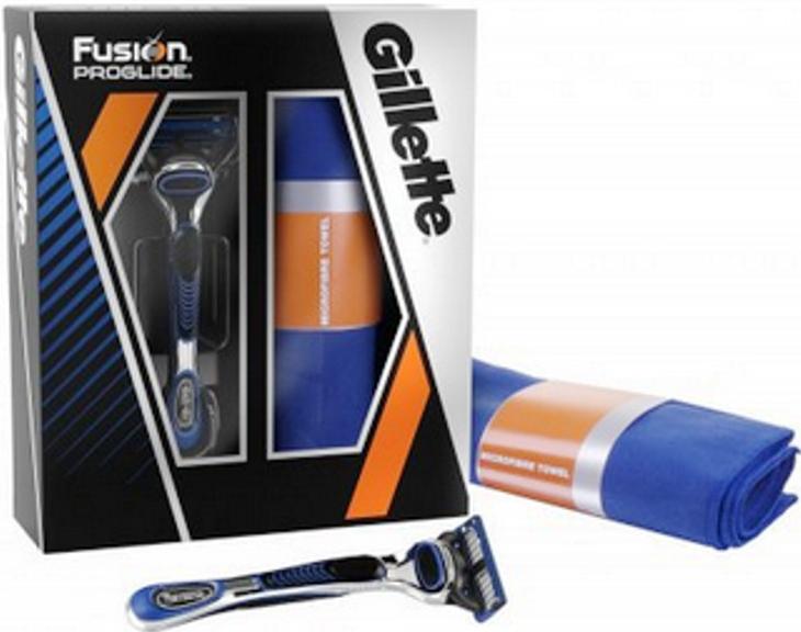 Gillette sada Fusion Proglide strojek 1 břit + ručník
