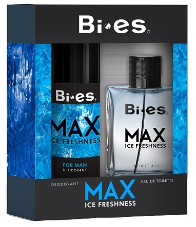 BI-ES sada Men Max Ice Fresh toaletní voda 100 ml+deospray 150 ml