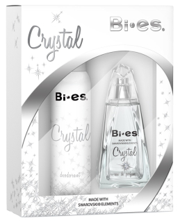 BI-ES sada Crystal parfémovaná voda 100 ml+deospray 150 ml