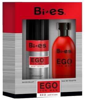 BI-ES sada Men Ego Red toaletní voda 100 ml+deospray 150 ml
