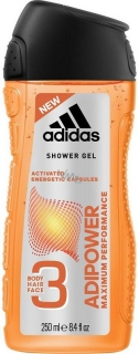 Adidas sprchový gel 3v1 Adipower 250 ml