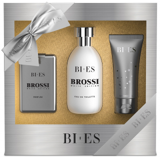 BI-ES sada Men Brossi EDT 100ml+parfém 15ml+sprchový gel 50ml